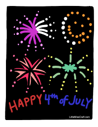 Small Picture Crafts July 4th Fireworks Coloring Page