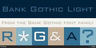Bank Gothic Bt Light Free Similar Fonts To Bank Gothic Fontspring