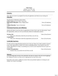 Where To Put Education On Resume Resumes Section How Include High