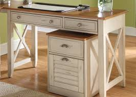white home office furniture 2763. exellent home classic home office furniture of rustic white wooden desk designed with  brown top and drawers plus cream rug on the floor combine  throughout 2763
