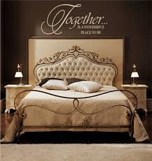 bedroom classic and vintage master bedroom design with brown interior color decor plus light brown on wall decals quotes for master bedroom with things to know about bedroom wall decals keribrownhomes