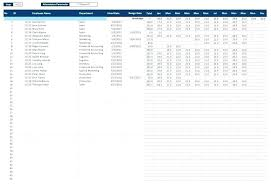 Attendance Tracker Spreadsheet Employee Monthly Attendance Sheet Template Excel Tracking In