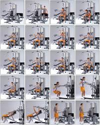 Multi Station Home Gym Exercise Chart Home Gym Exercise Chart Free Download Www