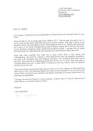 Cover Letter Recommendation Reference For Scholarship Short Of