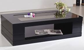 black coffee table. Black Coffee Table With Shelf Image And Description S
