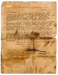 ernest hemingway letter signed with superb content regarding working on the old man and