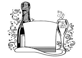 Kleurplaat Champagne Ausmalbild Trauben Und Wein Ausmalbilder