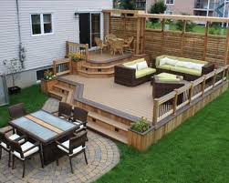 Backyard Decking Designs Custom Patio Fantastic Deck And Patio Decor Design 48 Timber Decking