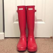 hunter boots size 6 red tall hunter boots size 6 wellington boot rain and winter