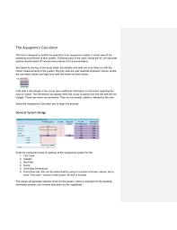 Aquaponics Clarifier Design The Aquaponics Water Quality Calculator Worksheet
