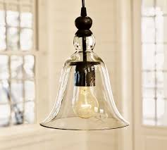 Rustic glass pendant lighting Bell Pottery Barn Small Rustic Glass Indooroutdoor Pendant Pottery Barn