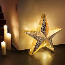 Xxl Weihnachtsstern Orientalischer Stil Metall Goldfarben