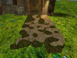 garden ground cover. Garden Path And Ground Cover Sculpted