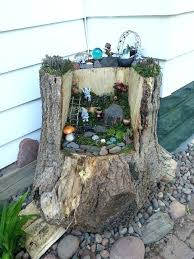 amazing fairy garden tree stump an old little how to make a house door hollow trunk window idea