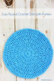 Crochet Circle Pattern Stunning Easy Round Crochet Dishcloth Pattern