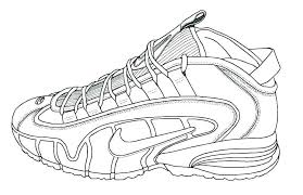 Nike Air Jordan Coloring Pages Running Shoe Page Cool Shoes Sheet