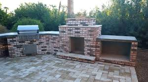 outdoor fireplace brick oven combo outdoor fireplaces home diy