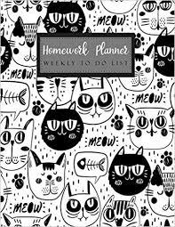 Homework To Do List Homework Planner Weekly To Do List Student Planner Journal Tracker