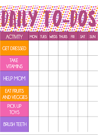 Free Printable Toddler Chore Chart And Stickers Play Party