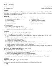 Financial Representative Sample Resume New Resume Sample Sales Rep Examples For Representative Samples