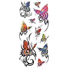 1ks Dámské Nepromokavé Dočasné Tetování Prstů Krk Tetování Vyvěral Motýla Náramek Těla Tetování 185 Cm 85 Cm
