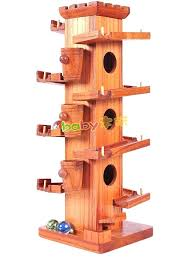 wooden marble tower wooden tower marble ball slide track game building block toys educational toys for wooden marble