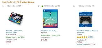 Video Game Charts Nintendos New Mini Nes Tops Amazon Uks Pc Video Game Charts