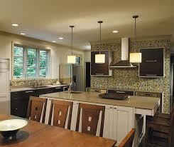 ... Dark Quartersawn Oak Cabinets With A Painted Kitchen Island