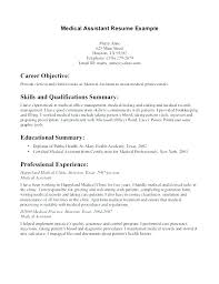 Medical Assistant Resume Template Free Custom Examples Of Medical Assistant Resumes Dolphinsbillsus