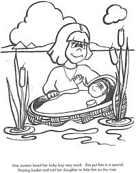 Small Picture Baby Moses Coloring Page Coloring Coloring Pages