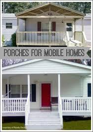 mobile home porch collage