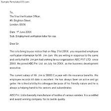 Ideas Of Ideas Collection Employment Verification Letter For