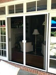 sliding screen door bug seal sliding screen door bug seal door retractable doors install by of