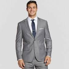 Mens Light Grey Wedding Suits Textured Gray Suit Jacket