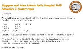 When is Cheryl's birthday?' The tricky maths problem that has ...