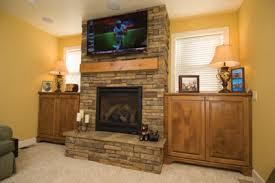 Install Stone Veneers Over Old Brick Fireplace DIY  YouTubeStacked Stone Veneer Fireplace