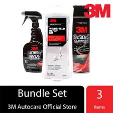 3m exclusive combo 3m windshield repair kit 3m glass cleaner 3m quick