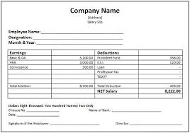 Word Duyudu Sample Slip Template Business Employee Salary