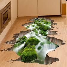 3d stream floor decor wall sticker <b>removable</b> mural decals <b>vinyl art</b> ...