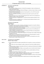 Financial Controller Resume Samples Velvet Jobs