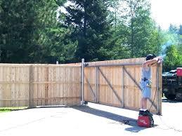 sliding fence gate hardware wooden decor wood52 fence