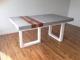 concrete and wood furniture. Gray Concrete Table With Wood Plank Inlay And Furniture B