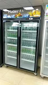 glass door absorption double sided refrigerator made in china commercial
