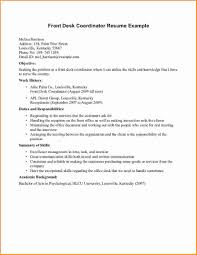 Desk Assistant Sample Resume Desk Assistant Sample Resume Lovely 24 Front Desk Receptionist Resume 18