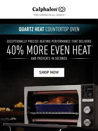 calphalon bake broil toast and roast with calphalon quartz heat countertop oven milled