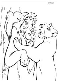 Nala Finds Simba Coloring Pages