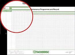 Car Maintenance Chart Tachodisc Vehicle Maintenance Chart