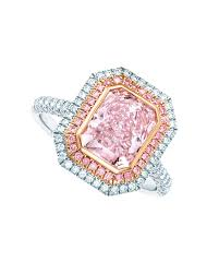 tiffany co ring in platinum and rose gold set with a cushion mixed