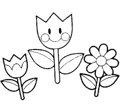 Coloring Picture Of Flowers Colouring Pages For Spring Flowers
