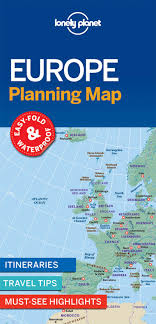 Lonely Planet Europe Planning Map Lonely Planet